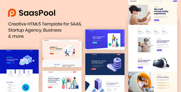 SaasPool - Saas, Startup & Agency HTML5 Template