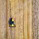 Aerial view of combine harvester is harvesting wheat in summer - PhotoDune Item for Sale
