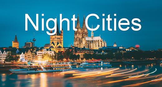 Night Cities In Dramatic Lighting