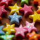 Colorful star shape ornaments with glittering - PhotoDune Item for Sale