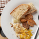 Bread egg and sausage for breakfast - PhotoDune Item for Sale