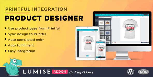 Printful Integration - Addon for Lumise Product Designer