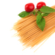 Raw spaghetti isolated on a white background - PhotoDune Item for Sale
