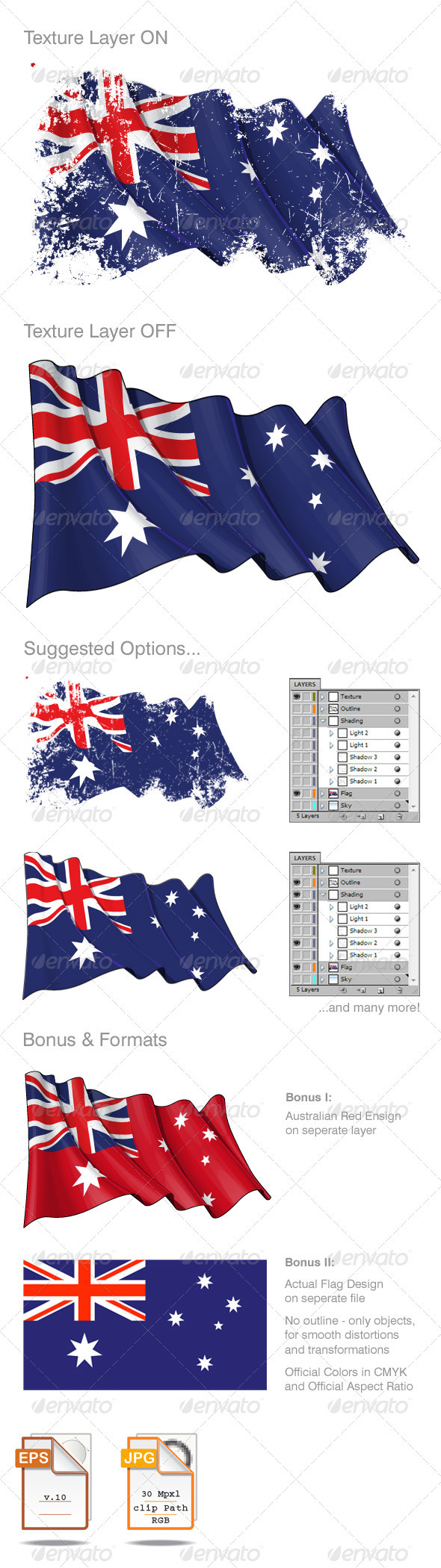 Australian Flag Grunge  - Backgrounds Decorative