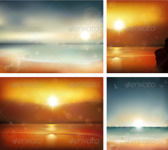 Summer backgrounds - Travel Conceptual