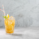Lemon ice tea on concrete gray background with mint and ice with copy space - PhotoDune Item for Sale