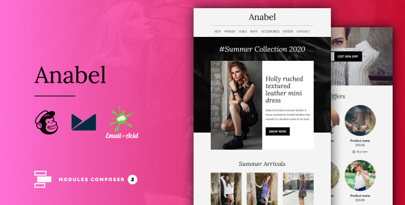 Anabel - E-commerce Responsive Email for Fashion & Accessories with Online Builder