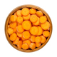 Small carrot slices, snack carrots cut into discs, in wooden bowl - PhotoDune Item for Sale