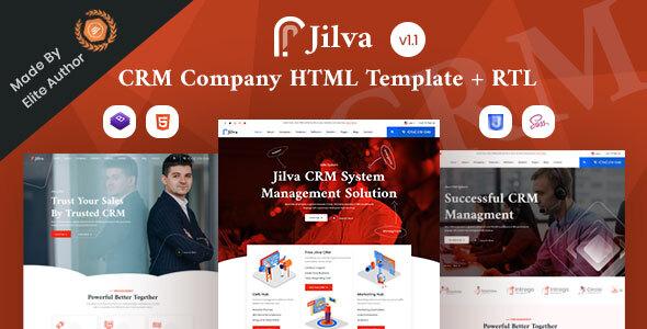 Jilva - CRM Solutions Company HTML Template