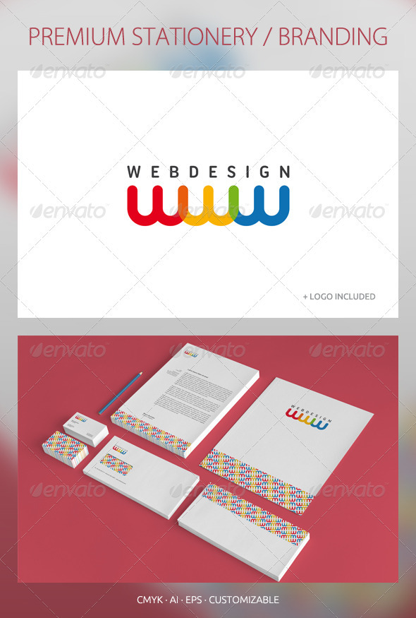 Web Design - Corporate Identity - Stationery Print Templates