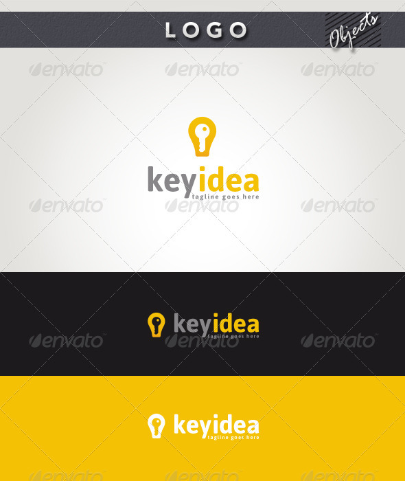 Key Idea Logo - Objects Logo Templates
