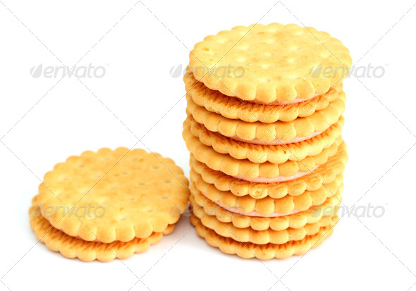 cookies isolated on white background - Stock Photo - Images