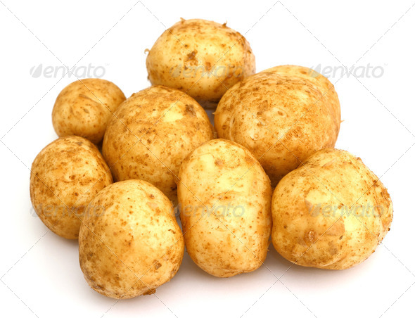 bunch of potatoes - Stock Photo - Images