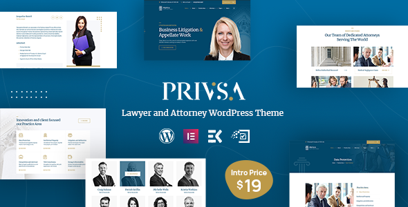 Privsa - Lawyer and Attorney WordPress Theme