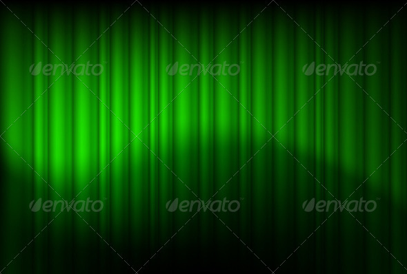 Green drapes reflected  - Abstract Conceptual