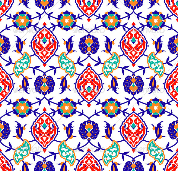 Traditional Islamic flower Pattern - Patterns Decorative