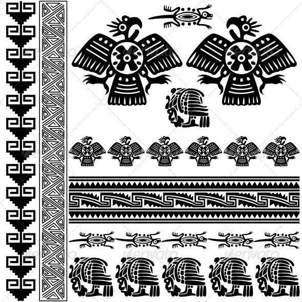 Ancient American ornaments - Decorative Symbols Decorative