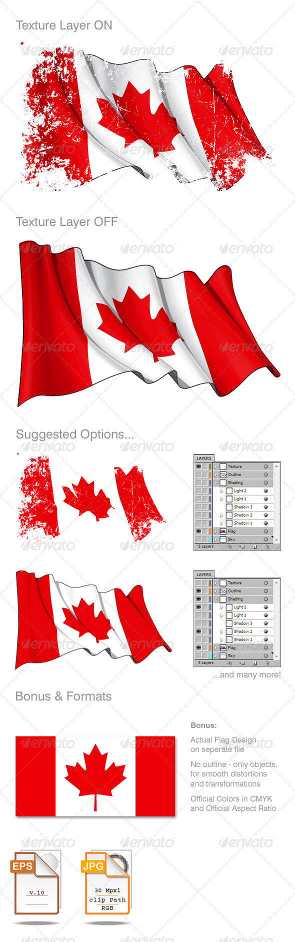 Canada Flag Grunge  - Backgrounds Decorative