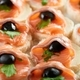 Little bruschetti with salmon and black olives - PhotoDune Item for Sale