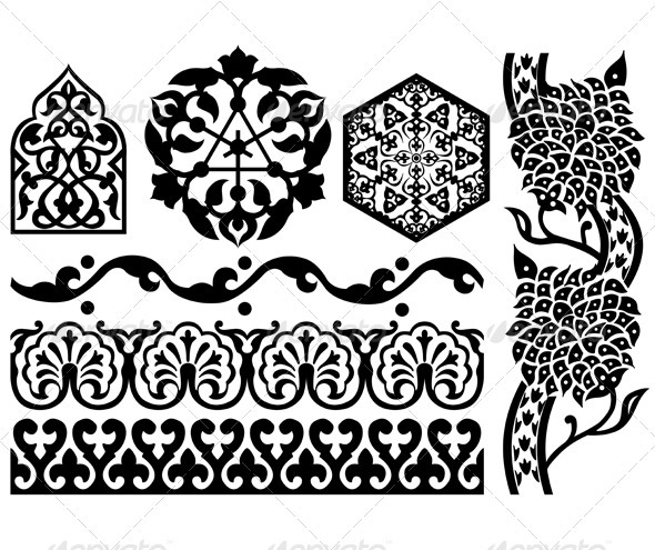 Islamic design elements - Decorative Symbols Decorative
