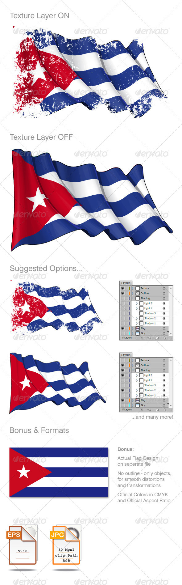 Cuba Flag Grunge - Backgrounds Decorative