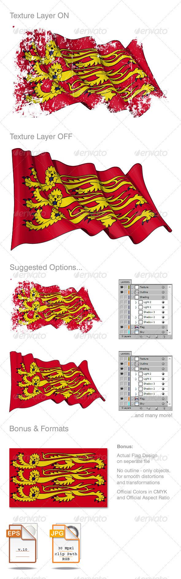 Englands Royal Banner Grunge - Backgrounds Decorative