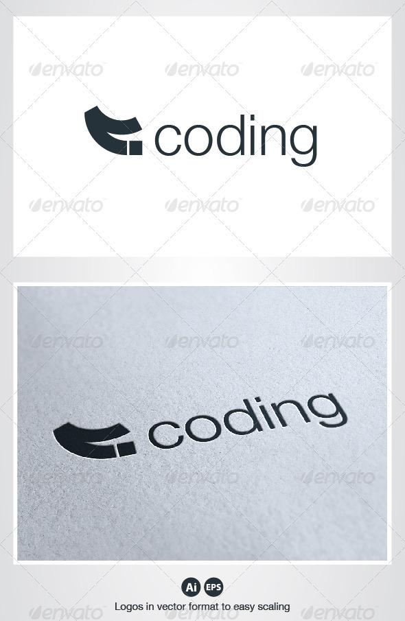Coding Logo - Symbols Logo Templates