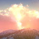 Shiny Clouds Over Snowy Mountain - VideoHive Item for Sale