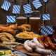 Oktoberfest dishes with beer, pretzel and sausage - PhotoDune Item for Sale