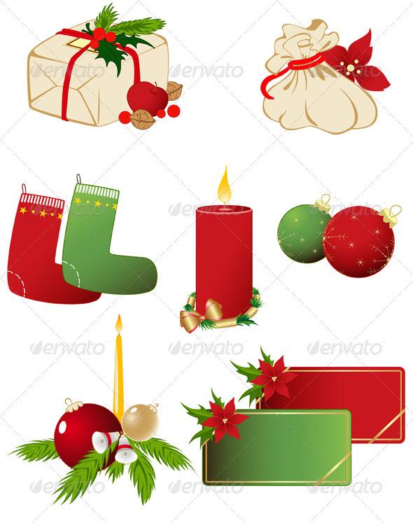 Set of Vector Christmas Icons - Christmas Seasons/Holidays