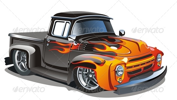 Cartoon Hotrod - Man-made Objects Objects