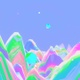 Abstract Rainbow Wave Mountain - VideoHive Item for Sale
