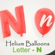 Balloons With Letter – N - VideoHive Item for Sale