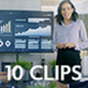 Collection of Business People's Day Situations - Pack of 10 Clips in 4K - VideoHive Item for Sale