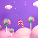 Purple Lollipop Candy World - VideoHive Item for Sale