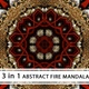 3D Abstract Fire Mandala - VideoHive Item for Sale