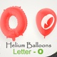 Balloons With Letter – O - VideoHive Item for Sale