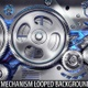 Steel gears mechanism looped backgound - VideoHive Item for Sale