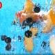 Ripe Fruits Peach Slices Orange Black Currant Apple Falling Into Water Splash Cascade - VideoHive Item for Sale