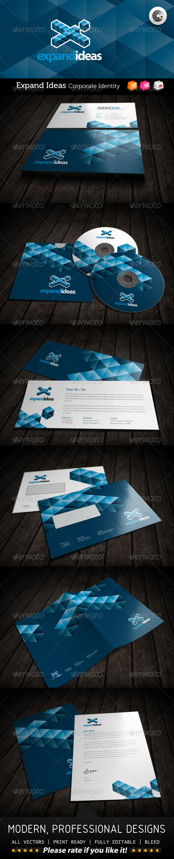 Expand Ideas Corporate Identity - Stationery Print Templates