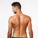 Rear view, attractive man from behind, athletic muscular back tanned sexy sportsman, turn face left - PhotoDune Item for Sale