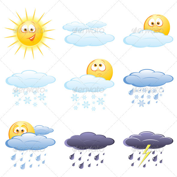 Weather icon set - Seasons Nature