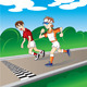 Marathon runners at the finish - GraphicRiver Item for Sale