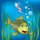 Funny fish and scared worm - GraphicRiver Item for Sale