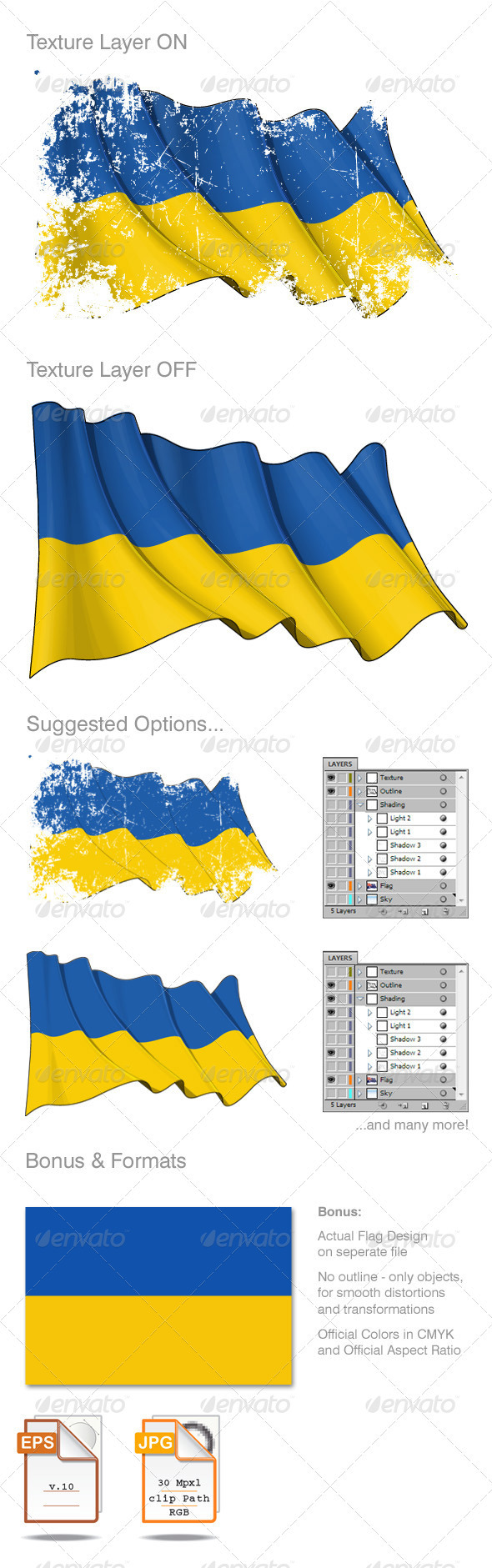 Ukraine Flag Grunge - Backgrounds Decorative