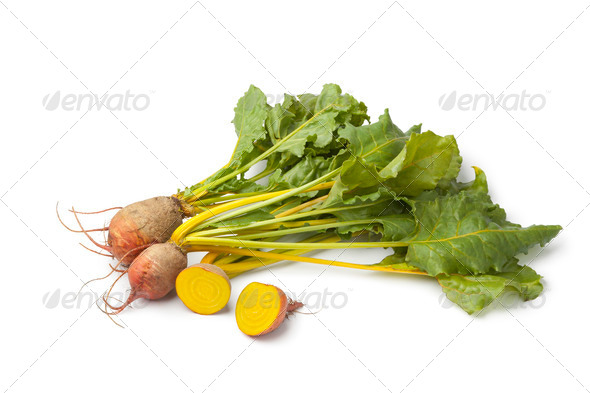 Fresh raw yellow beets - Stock Photo - Images
