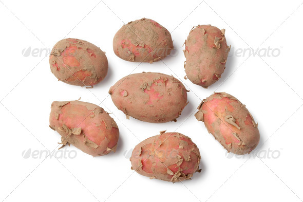 Fresh red Raya potatoes - Stock Photo - Images
