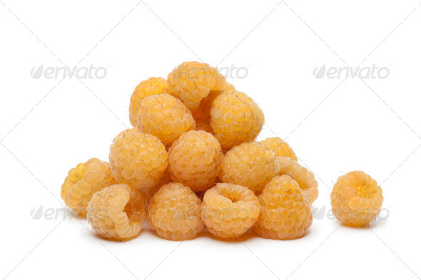Yellow raspberries - Stock Photo - Images