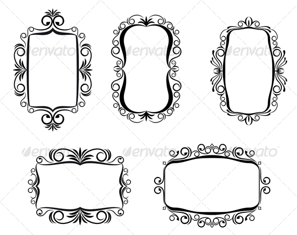 Vintage frames - Flourishes / Swirls Decorative
