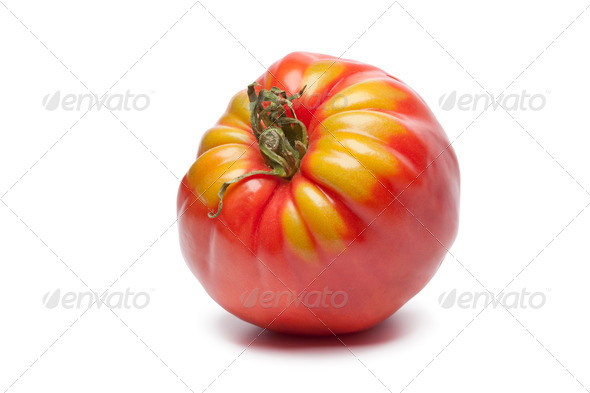 Single Coeur de Boeuf tomato - Stock Photo - Images